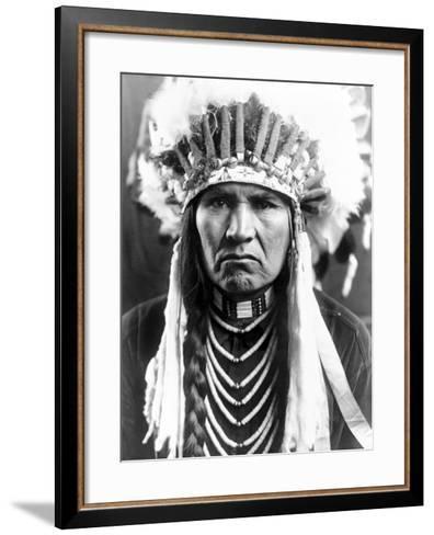 Nez Perce Native American-Edward S^ Curtis-Framed Art Print