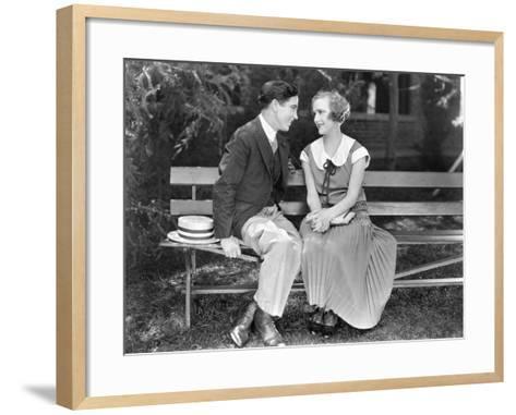 Silent Film Still: Couples--Framed Art Print