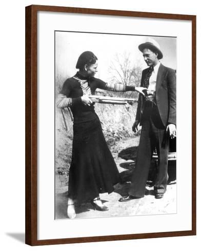 Bonnie And Clyde, 1933--Framed Art Print