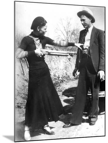 Bonnie And Clyde, 1933--Mounted Photographic Print