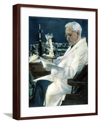 Sir Alexander Fleming--Framed Art Print