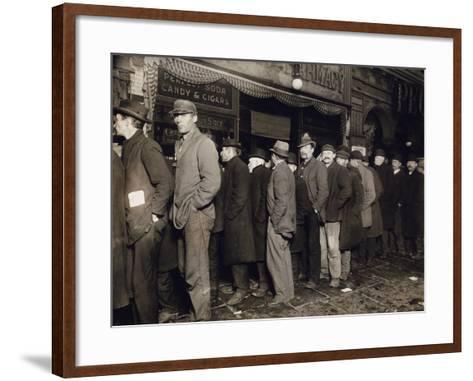 New York: Bread Line, 1907--Framed Art Print