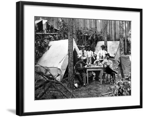 Civil War: Card Game, 1864--Framed Art Print