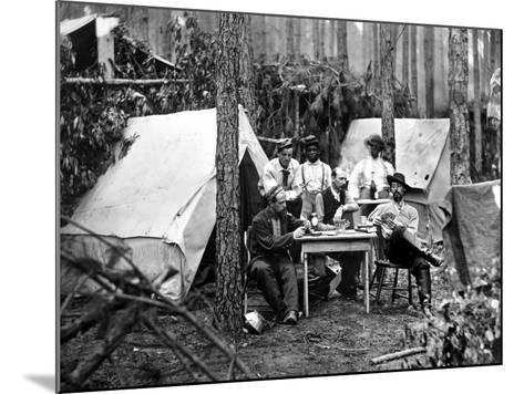 Civil War: Card Game, 1864--Mounted Photographic Print