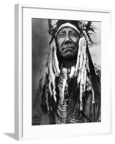 Cheyenne Chief, C1910-Edward S^ Curtis-Framed Art Print