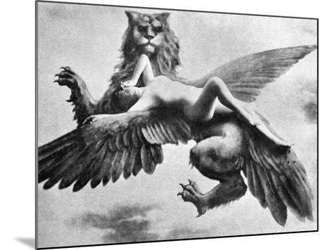 Nude And Griffin, 1890S--Mounted Photographic Print