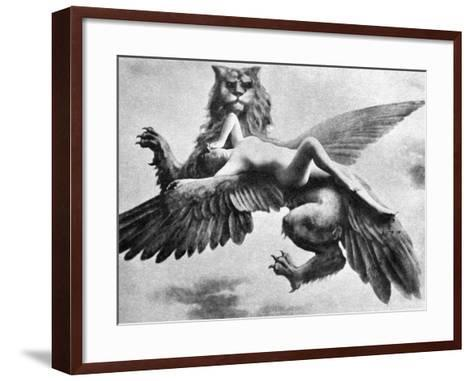 Nude And Griffin, 1890S--Framed Art Print