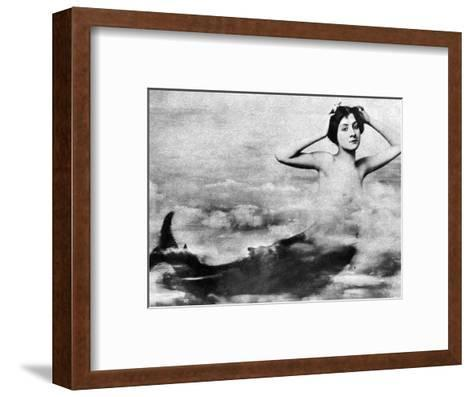 Nude As Mermaid, 1890S--Framed Art Print
