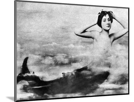 Nude As Mermaid, 1890S--Mounted Photographic Print