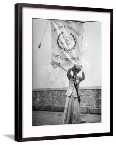 Suffragist, C1912--Framed Art Print