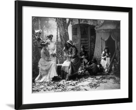 Palm Reading, C1902--Framed Art Print