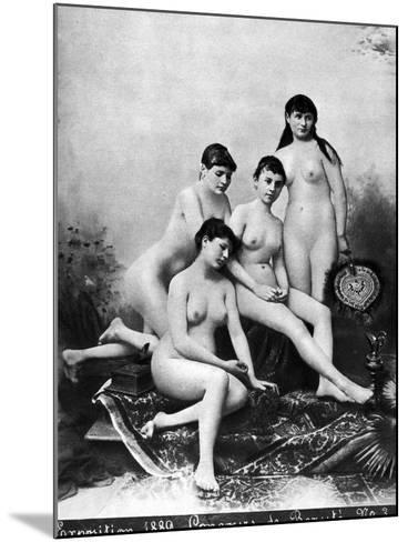 Nude Group, 1889--Mounted Photographic Print