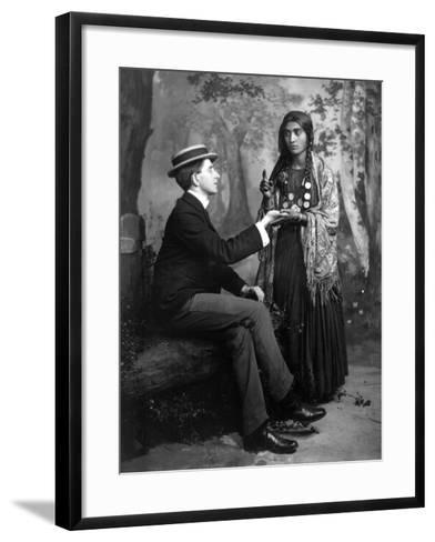 Palm-Reading, C1910--Framed Art Print