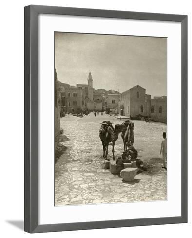 Bethlehem: Street, C1911--Framed Art Print