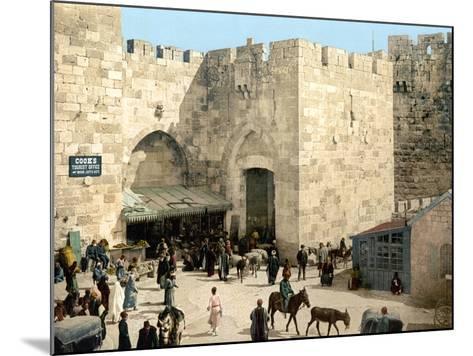Jerusalem: Jaffa Gate--Mounted Photographic Print