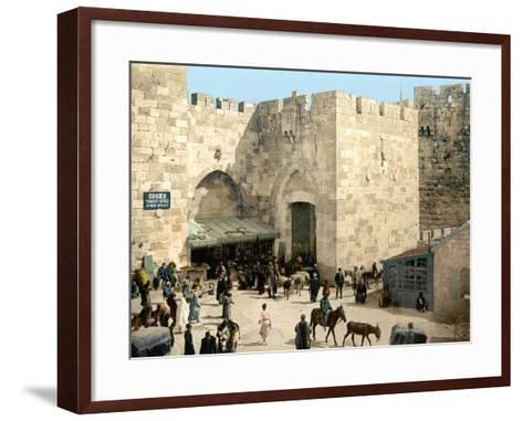 Jerusalem: Jaffa Gate--Framed Art Print