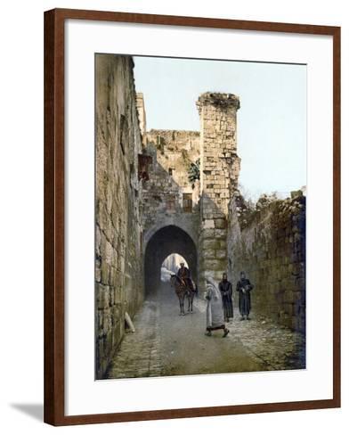 Jerusalem: Via Dolorosa--Framed Art Print