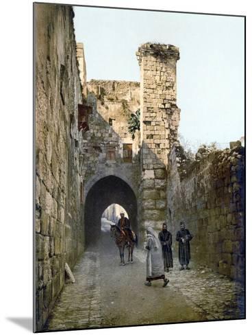 Jerusalem: Via Dolorosa--Mounted Photographic Print