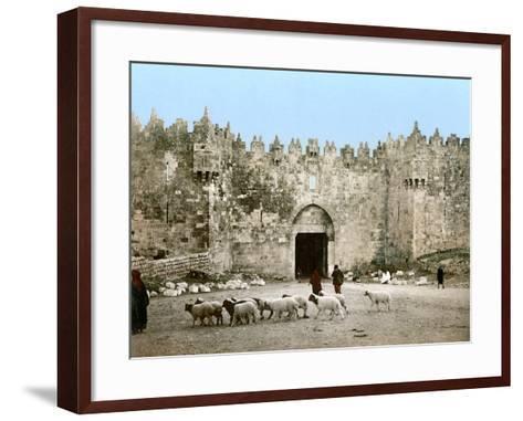 Jerusalem: Damascus Gate--Framed Art Print