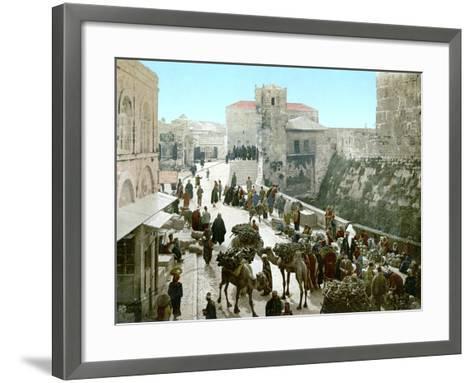 Jerusalem: Bazaar, C1900--Framed Art Print