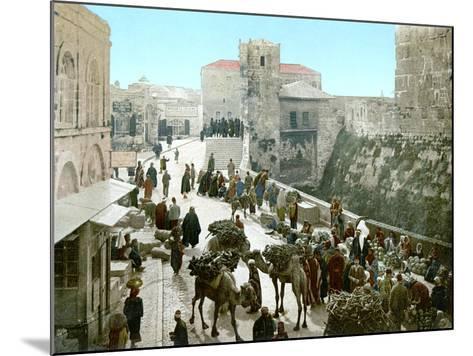 Jerusalem: Bazaar, C1900--Mounted Photographic Print