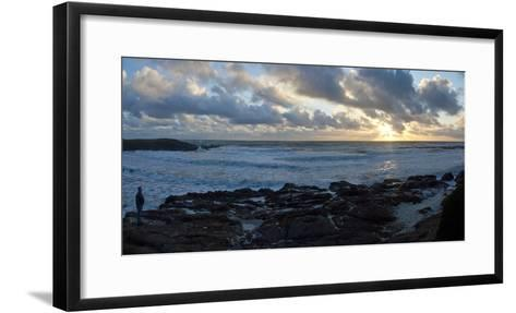 Sunset on Rugged California Coast-Anna Miller-Framed Art Print