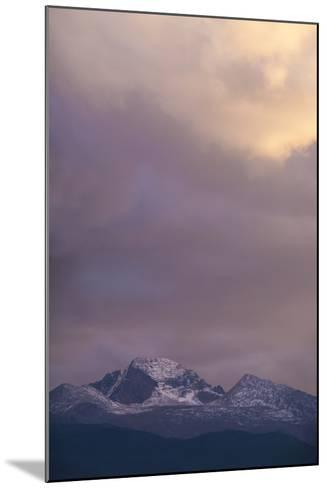 Clouds Lit by Setting Sun Above Rocky Mountains Ridge-Anna Miller-Mounted Photographic Print