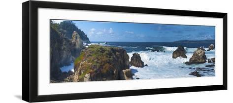 Rugged Coast in Point Lobos State Park, CAlifornia-Anna Miller-Framed Art Print