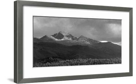Moraine Park Vista of Rocky Mountains Range with Long's Peak, Colorado, USA-Anna Miller-Framed Art Print