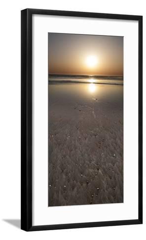 Morro Bay Beach Sunset-Anna Miller-Framed Art Print