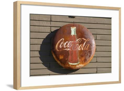 Antique Coca Cola sign, Mansfield, Indiana, USA-Anna Miller-Framed Art Print