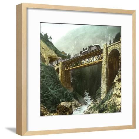 Vassen (Switzerland), Bridge of the Saint-Gothard Railroad, Circa 1865-Leon, Levy et Fils-Framed Art Print
