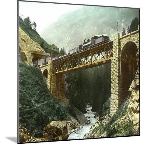 Vassen (Switzerland), Bridge of the Saint-Gothard Railroad, Circa 1865-Leon, Levy et Fils-Mounted Photographic Print