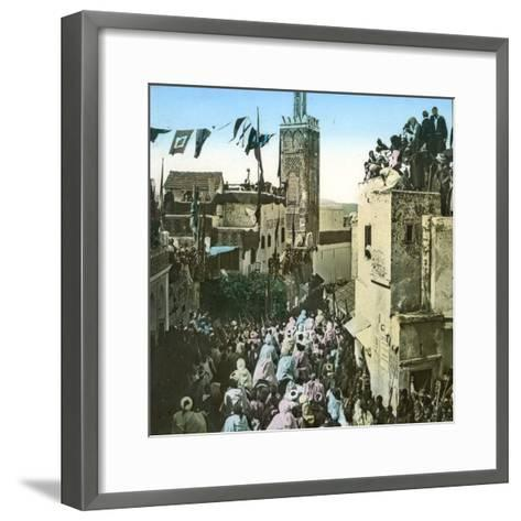 The Sultan's Cavalry Going to the Mosque, Tangier (Morocco), Circa 1885-Leon, Levy et Fils-Framed Art Print