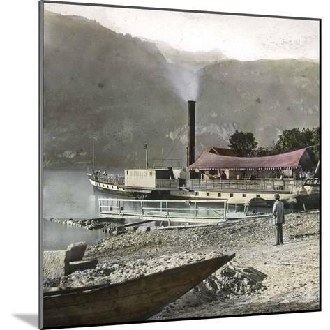 Boats on Lake Brienz (Switzerland), Circa 1865-Leon, Levy et Fils-Mounted Photographic Print