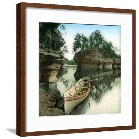 United States (Wisconsin), the Wisconsin River-Leon, Levy et Fils-Framed Art Print