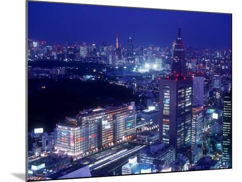 Night View of Shinjuku--Mounted Photographic Print