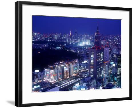 Night View of Shinjuku--Framed Art Print