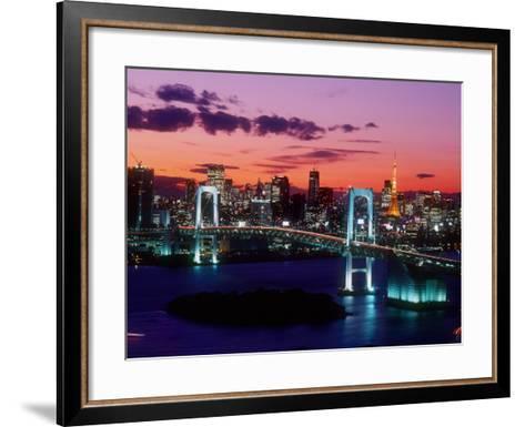 Evening View of Rainbow Bridge--Framed Art Print