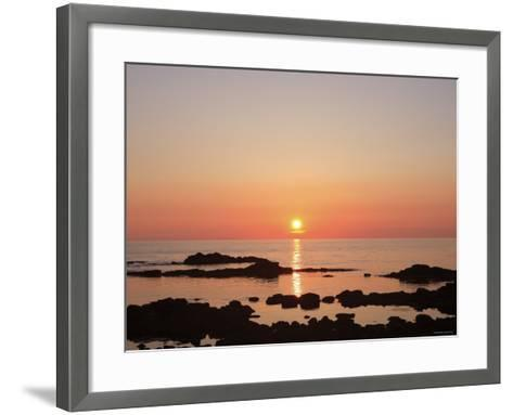 Sunset at the Sea--Framed Art Print
