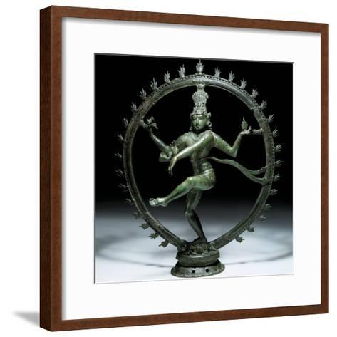 Shiva Nataraja in Bronze, 12th Century--Framed Art Print