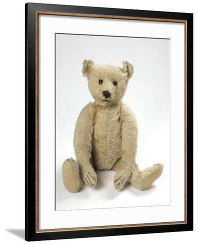 Teddy Bear in Yorkshire Cloth--Framed Art Print