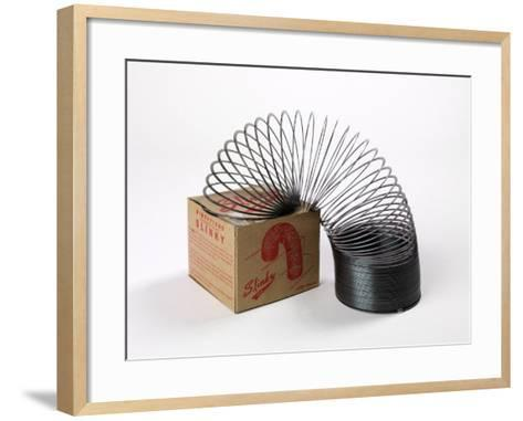 Retro Slinky Toy--Framed Art Print