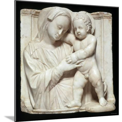 Sculpture of the Virgin and Child in Marble, c.1447-1522-Giovanni Antonio Amadeo-Mounted Photographic Print