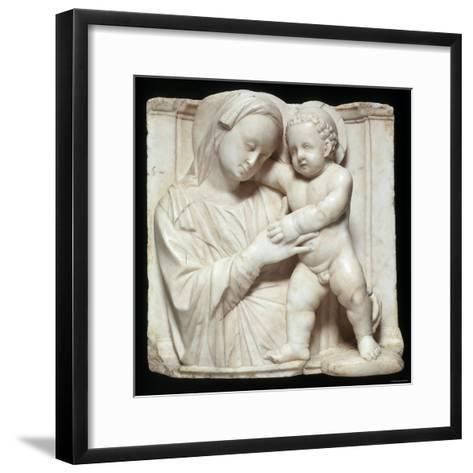 Sculpture of the Virgin and Child in Marble, c.1447-1522-Giovanni Antonio Amadeo-Framed Art Print