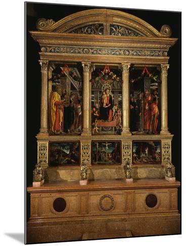 Altarpiece of Saint Zeno, with Saints Peter, Paul, John the Evangelist, Zeno-Andrea Mantegna-Mounted Photographic Print