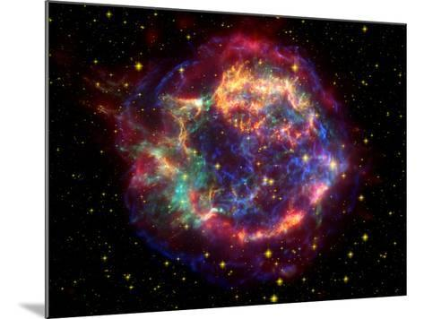 Stunning Composite Picture of Cas A,  Infrared Image from the Spitzer Space Telescope--Mounted Photographic Print