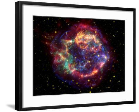 Stunning Composite Picture of Cas A,  Infrared Image from the Spitzer Space Telescope--Framed Art Print