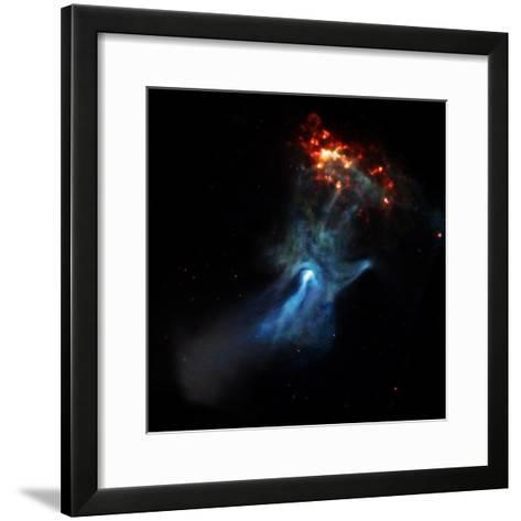 At the Center of this Chandra Image, a Pulsar, Responsible for this X-ray Nebula--Framed Art Print