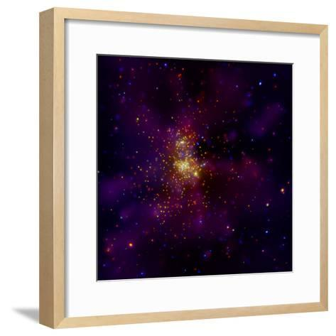 This Chandra X-ray Observatory Image Shows Westerlund 2, a Young Star Cluster--Framed Art Print